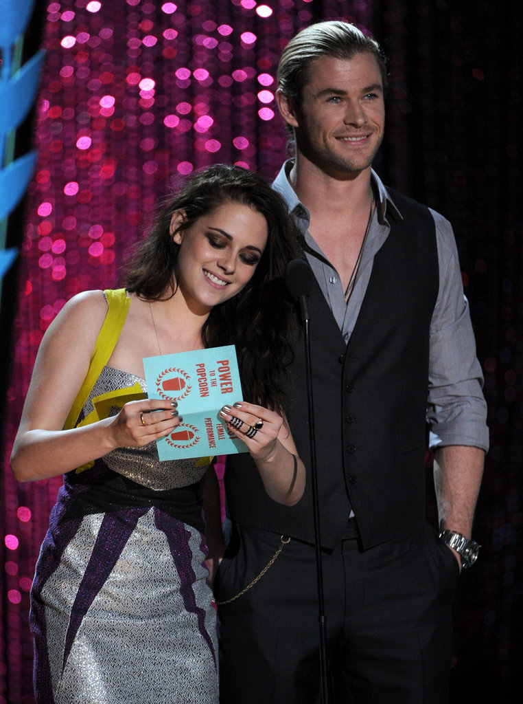 Kristen Stewart opened an envelope before revealing the winner.