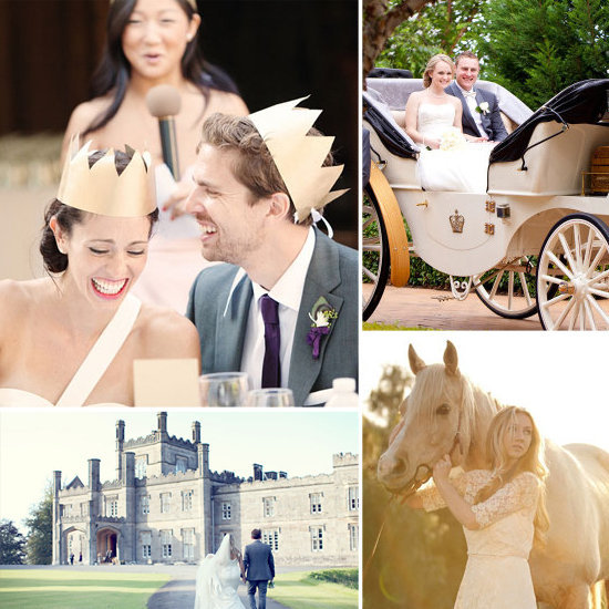 If you're looking for some dreamy, whimsical, and outright magical ceremony, then take a journey over to Très for fairy-tale inspired wedding ideas.