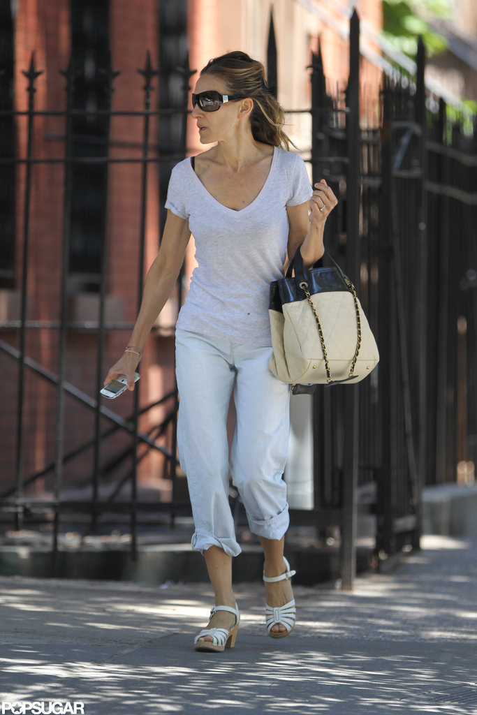Sarah Jessica Parker kept it casual as she ran errands in NYC.