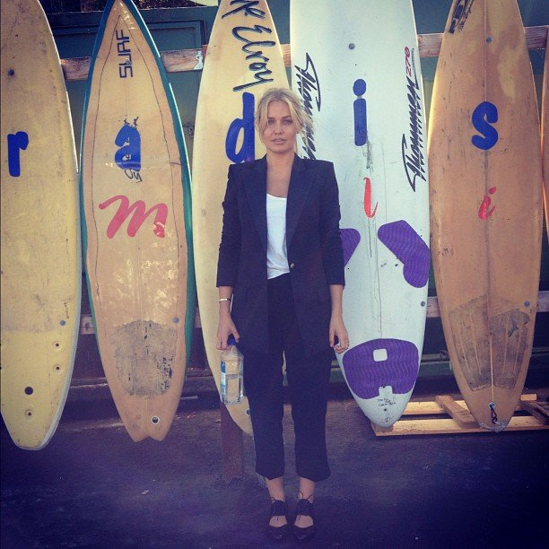 Lara Bingle shot scenes of Being Lara Bingle in Malibu. Source: Instagram user mslarabingle