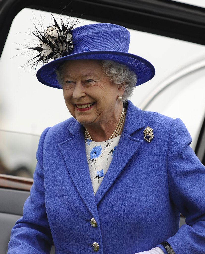 Queen Elizabeth arrived at the derby.