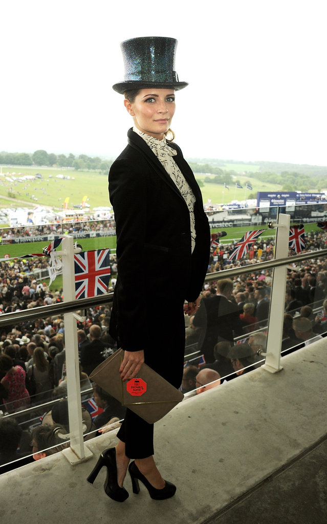 Mischa Barton attended the derby.