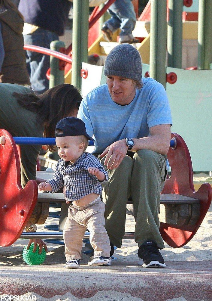 Owen Wilson and son Robert Wilson visited an LA park in December 2011.