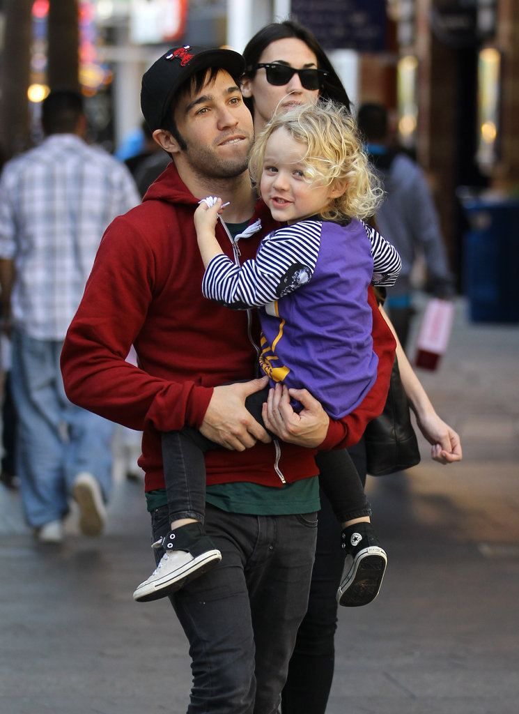 Pete Wentz took care of his son, Bronx, while hanging out in LA in December 2011.