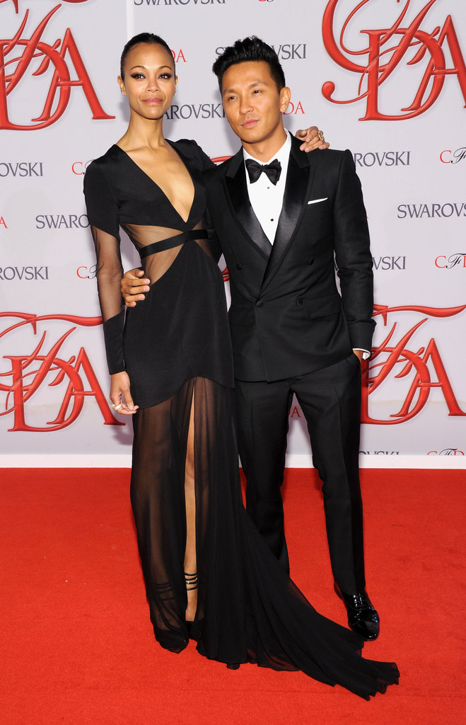 Zoe Saldana and Prabal Gurung