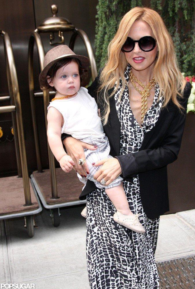 Rachel Zoe was all smiles as she carried baby Skyler in NYC.