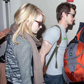 Emma Stone and Andrew Garfield Hold Hands at LAX Pictures