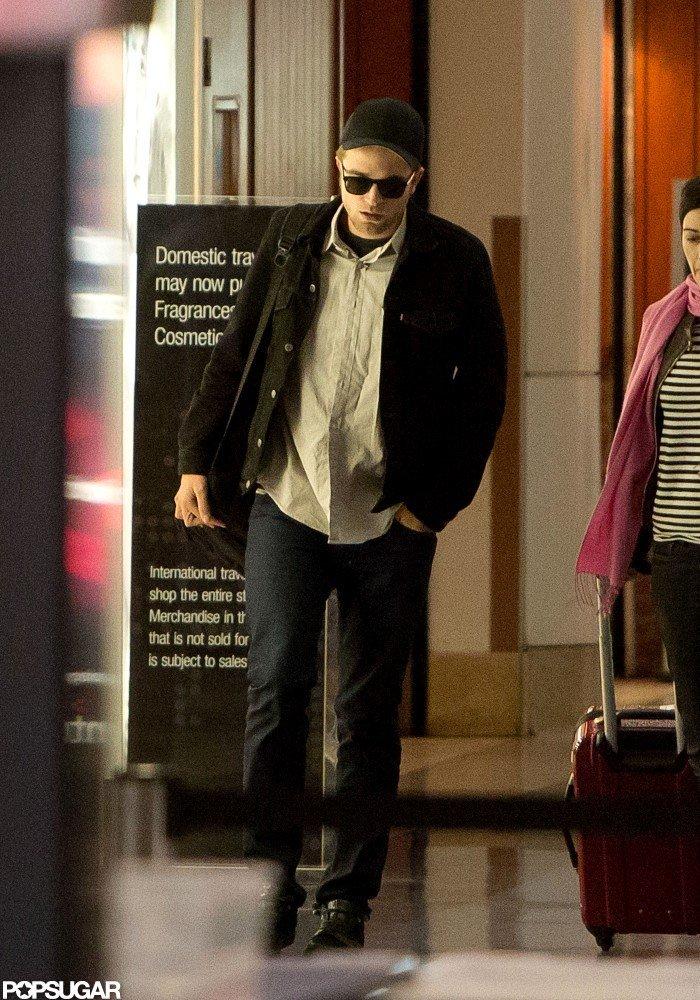 Robert Pattinson traveled through LAX.