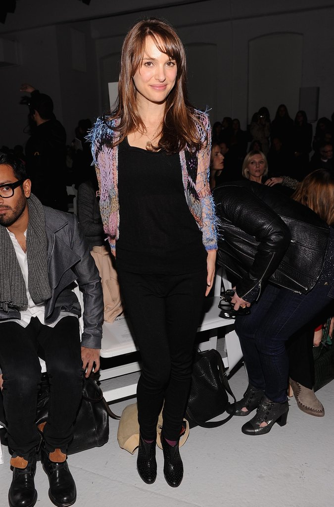 Natalie Portman got fashionable sitting front row at the Rodarte show during Fashion Week in NYC in February 2012.