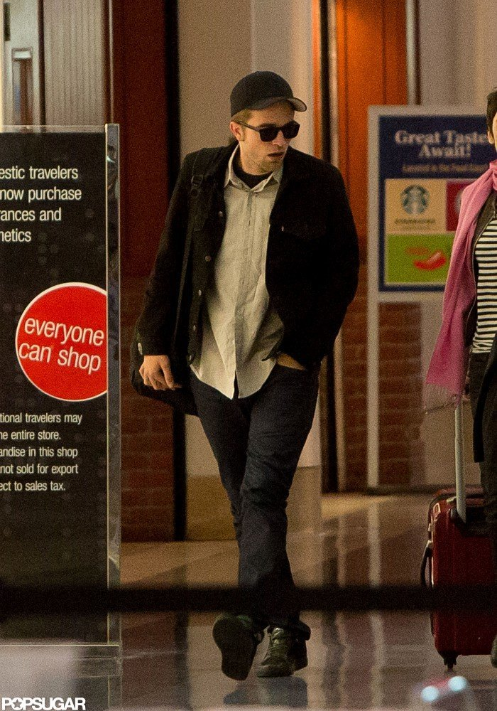 Robert Pattinson landed at LAX.
