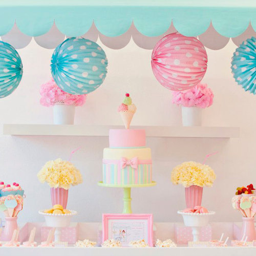 Girls Ice Cream Birthday Party