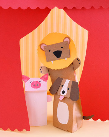 Make Paper-Bag Puppets