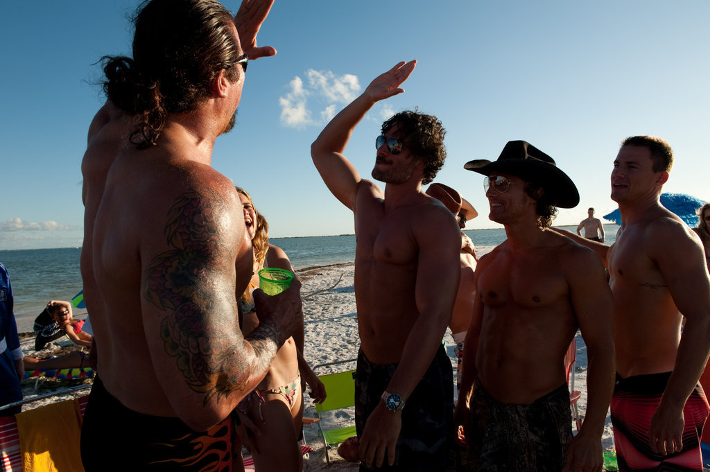 Kevin Nash, Joe Manganiello, Matthew McConaughey and Channing Tatum in Magic Mike.
