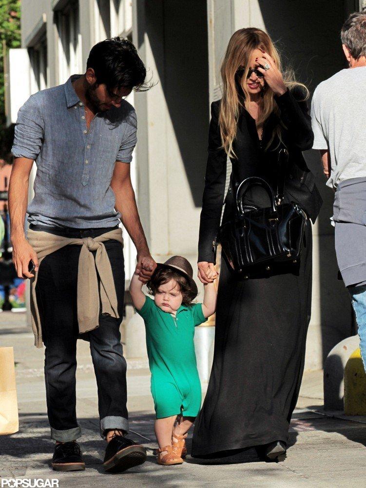 Rachel Zoe and Joey Maalouf took Skyler Berman out for a walk in NYC.