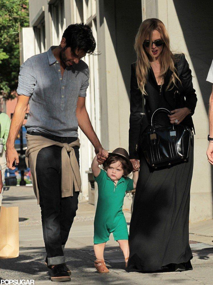 Rachel Zoe and Joey Maalouf held tight to Skyler Berman as the three of them walked in SoHo.