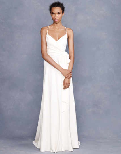 Sometimes the simplest wedding dress can make the most for J crew beach wedding dress