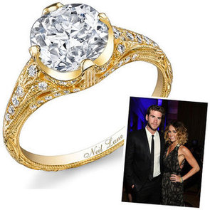 See Miley Cyrus' 3.2 Carat Vintage Style Neil Lane Engagement Ring: Do You Like It or Loathe It?