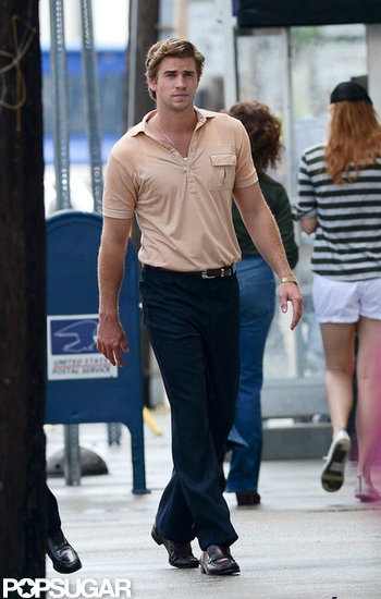 Liam Hemsworth walked onto the set of Empire State in New Orleans.