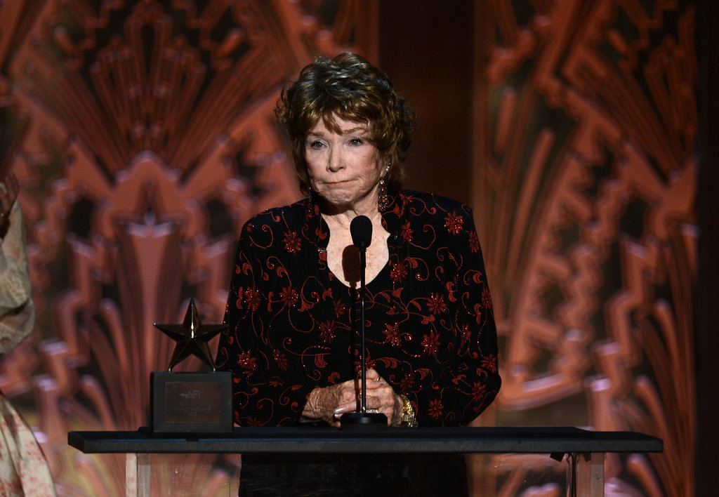Shirley MacLaine accepted her award at the AFI Life Achievement Award dinner in LA.
