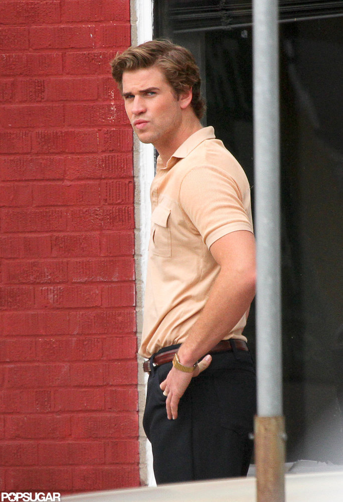Liam Hemsworth was spotted in New Orleans shooting Empire State.