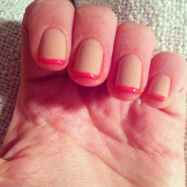 Alison tried the neon tips trend this week.