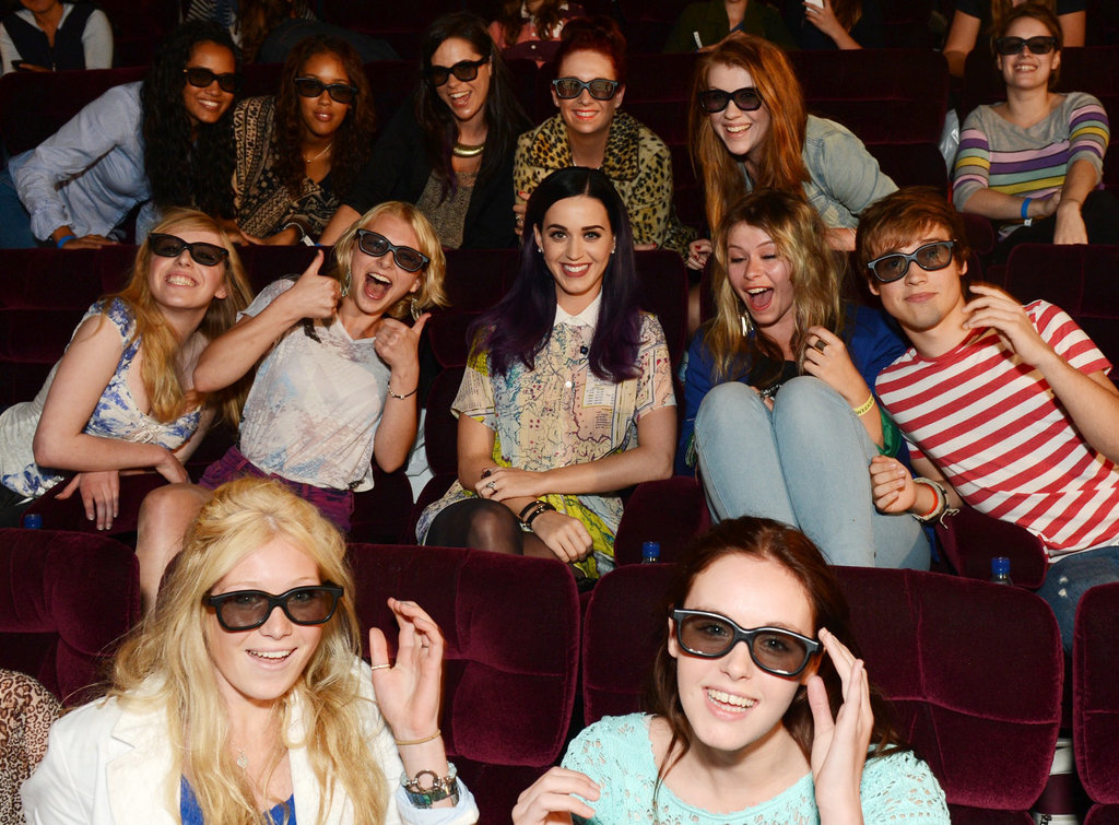 Katy Perry surprised fans at a screening of her new movie Katy Perry: Part of Me 3D in London on June 7.