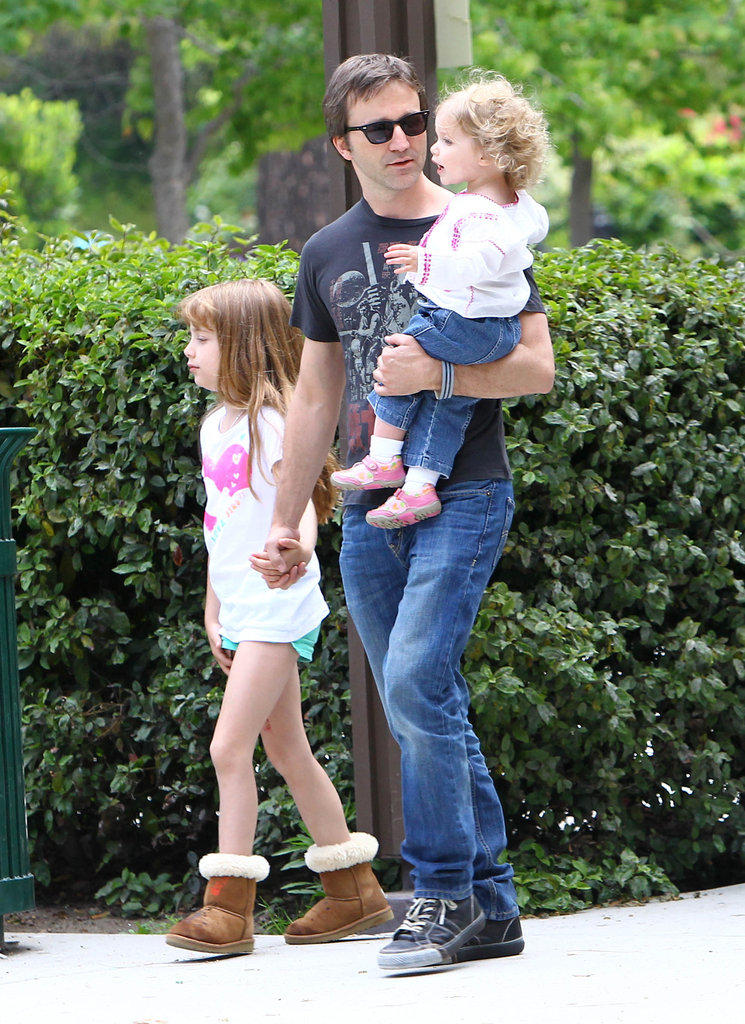 In June 2012, Breckin Meyer and his daughters spent a day at an LA park.