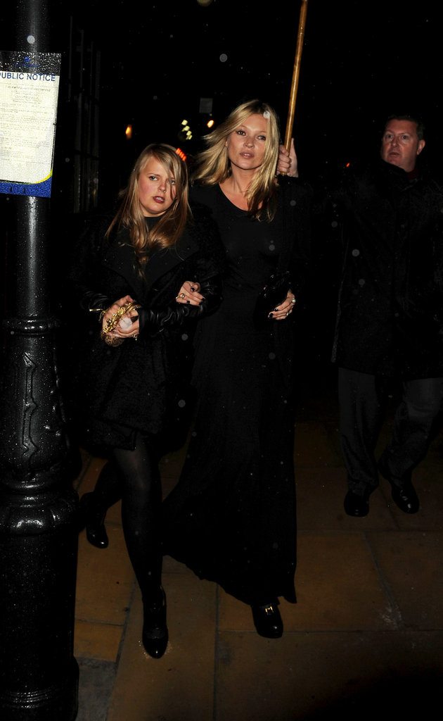 Kate Moss hung out in London.