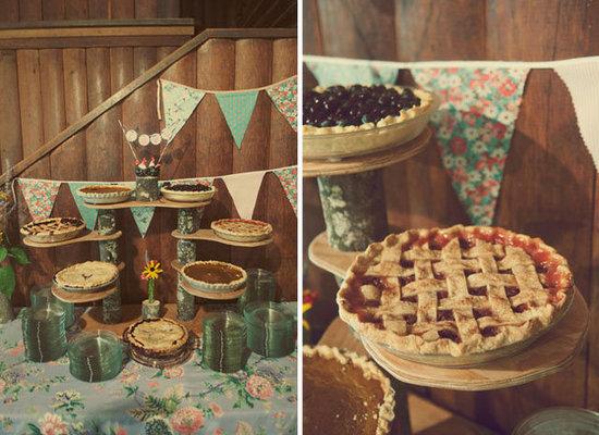 Homemade Pie Table