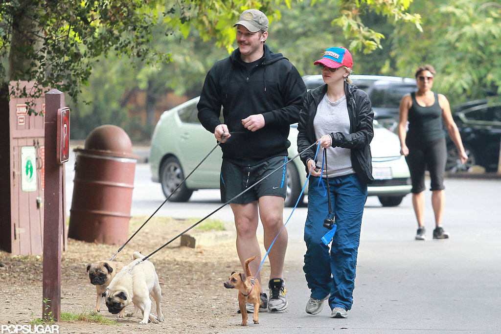 Chris Pratt and Anna Faris went for a walk together in LA.
