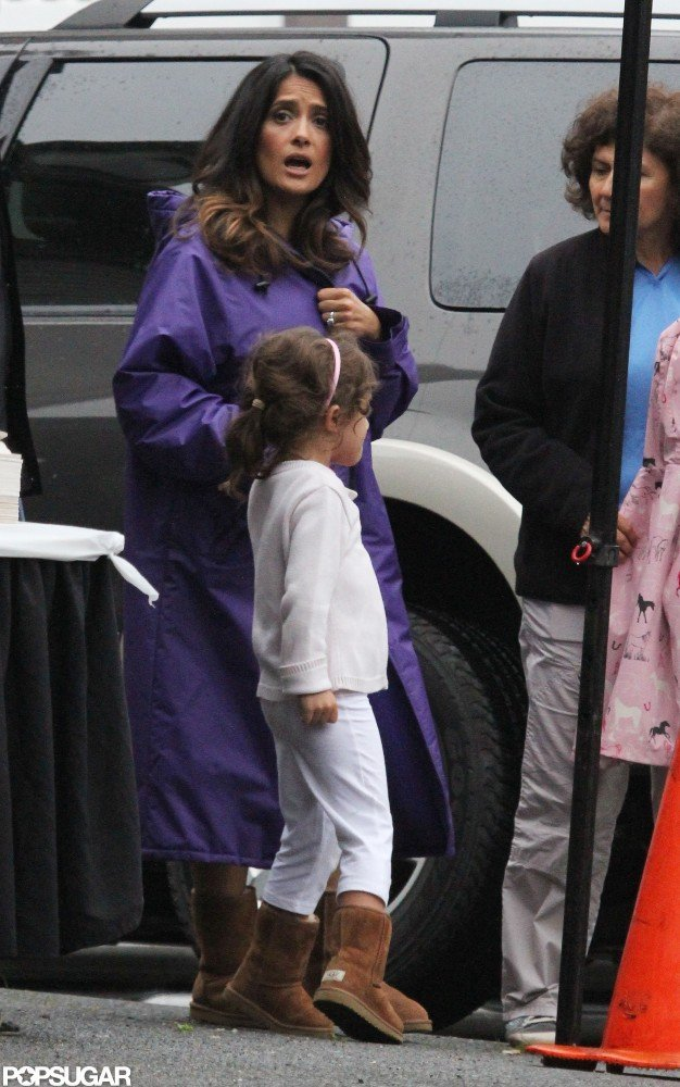 Salma Hayek brought her daughter, Valentina Pinault, to lunch.