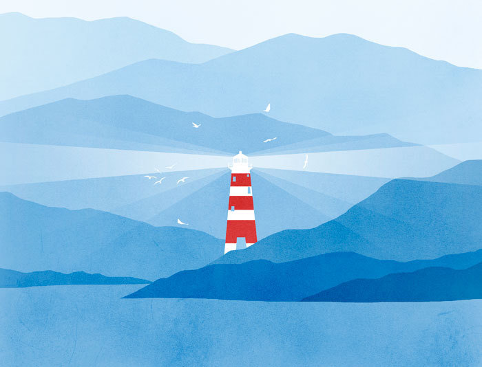 Lighthouse Nautical Decor Art Print ($18)