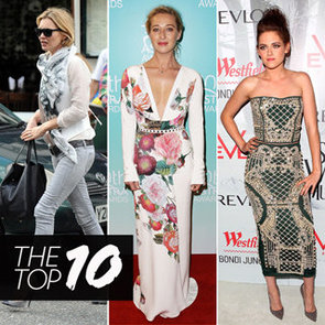 Top 10 Best Dressed Celebrities This Week Including Asher Keddie, Kristen Stewart and Kate Moss