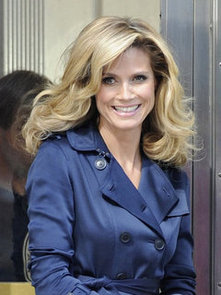 Heidi Klum Gets Sprayed With Water For a Hairspray Commerical