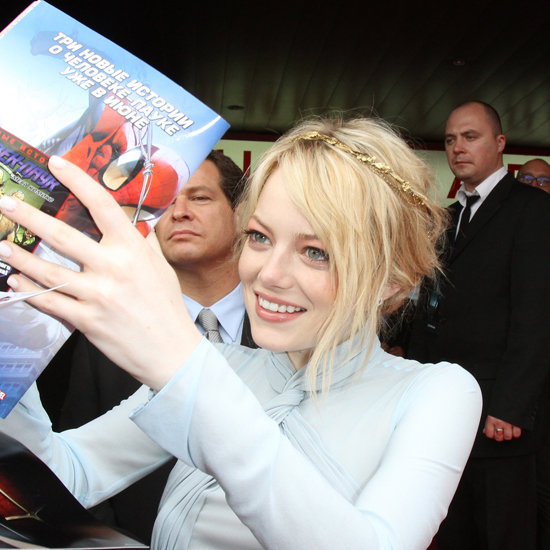 Emma Stone Wore a Jennifer Behr Headband in Moscow: Get Her Pretty Look!