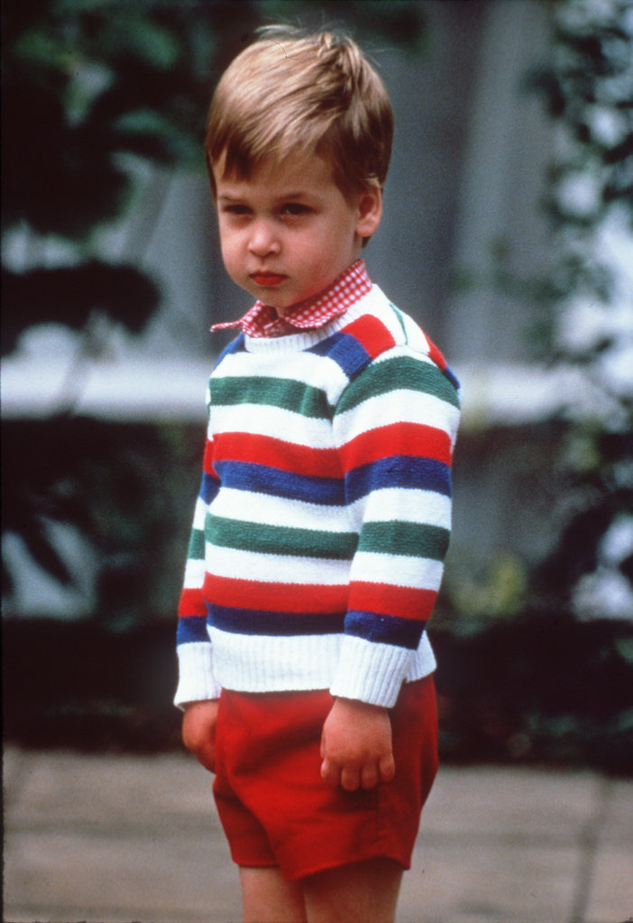 Prince William arrived for his first day at nursery school in London in September 1985.
