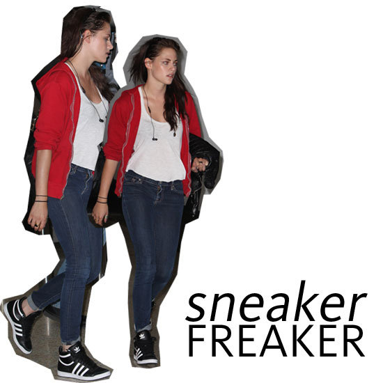 Kristen Stewart Arrives In Sydney for Snow White and the Huntsmen: Love Her Adidas High Top Trainers! Snoop Then Shop Similar