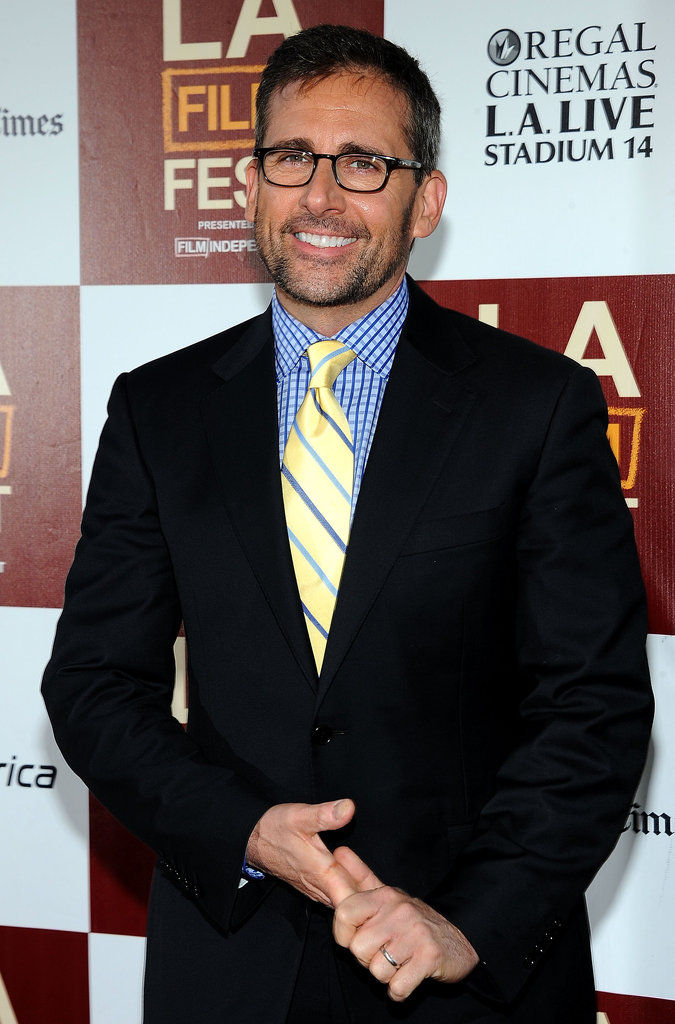 Steve Carell gave a smile at the LA premiere of Seeking a Friend For the End of the World.