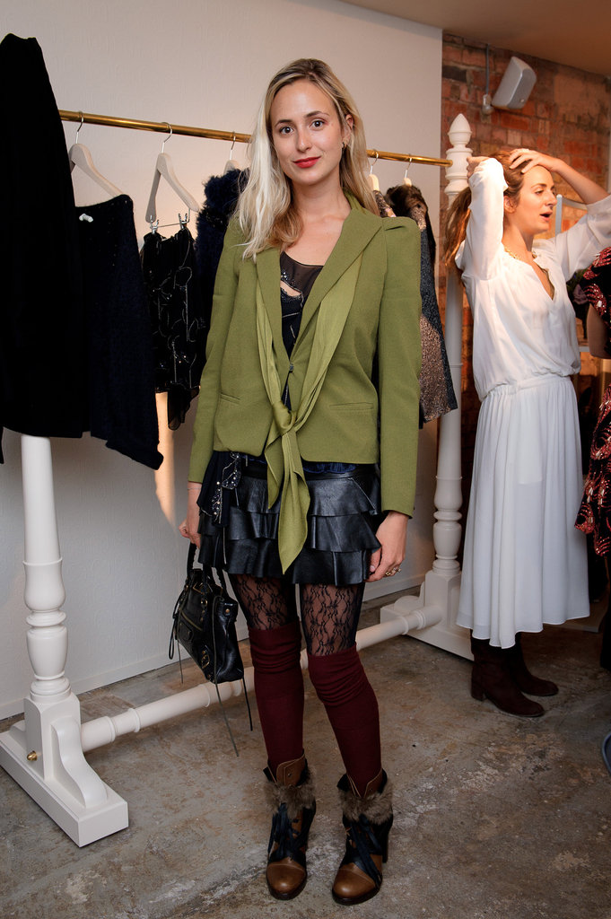 Elisabeth showed off her mix-and-match cool at a Vanessa Bruno store launch in London.
