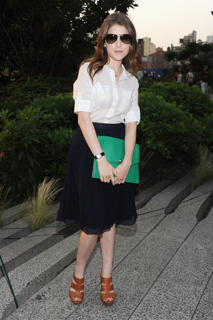 Anna Kendrick posed at Coach's Summer Party on the High Line in NYC.