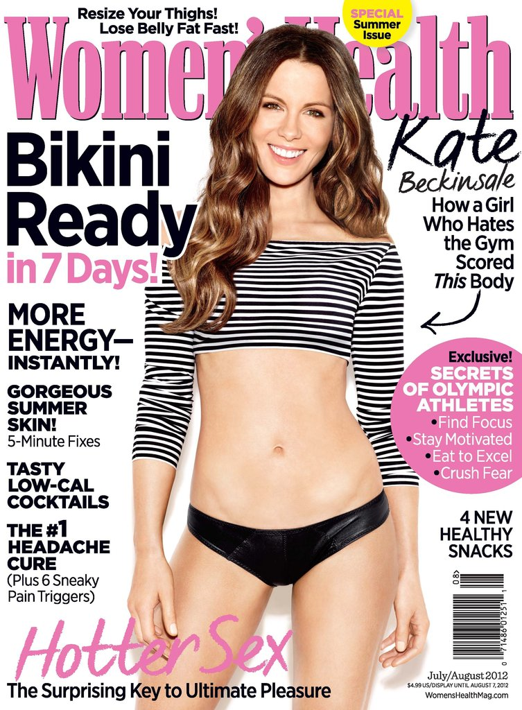 Kate Beckinsale Shows Her Abs and Talks Fighting Jessica Biel in Women's Health
