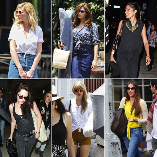 Celebrities Wearing Tie-Front Tops