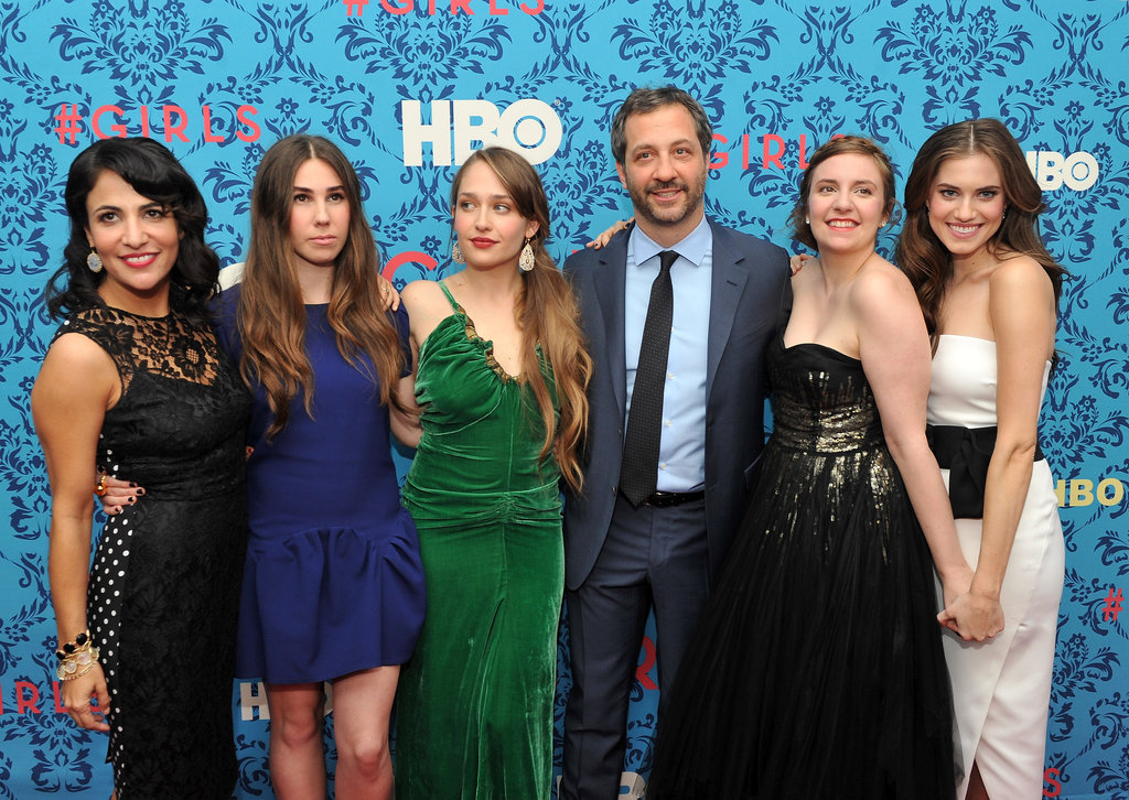 It helps to have good connections when you want to get a show off the ground and past the pilot stage. Comedy producer Judd Apatow has a producing credit on Girls, and lots of the main stars have famous relatives (at least in the US). Allison Williams' dad is Brian Williams, a news anchor for NBC Nightly News, and Zosia Mamet's father is David Mamet, who is best known as a playwright.