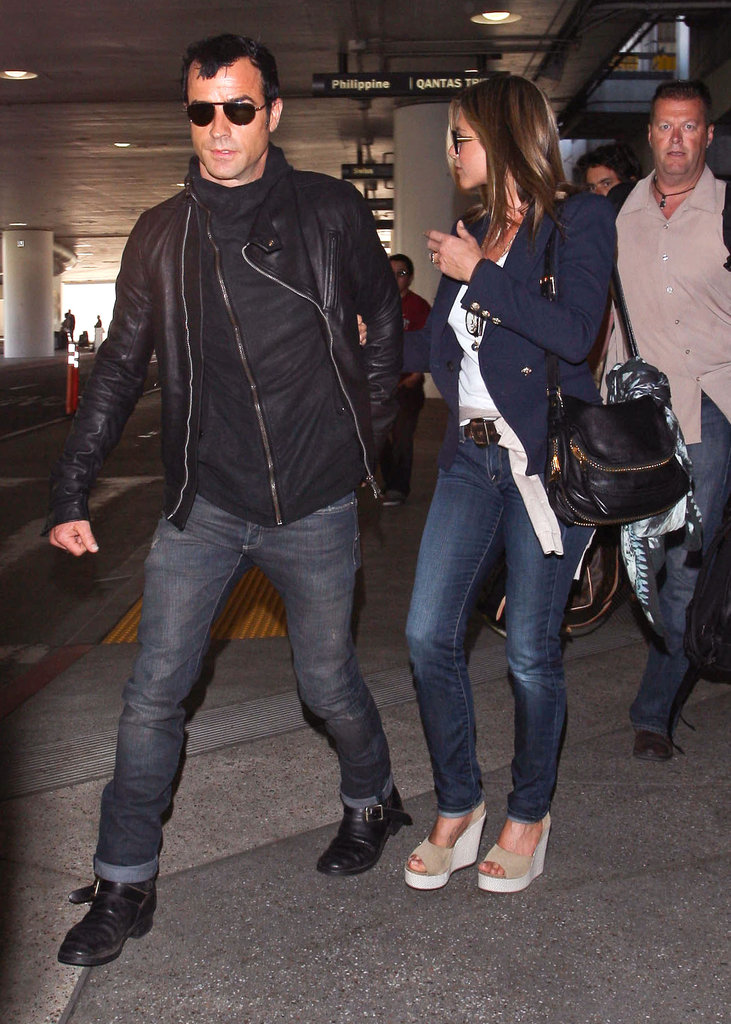 Jennifer Aniston and Justin Theroux arrived home together in LA from a European vacation in June.