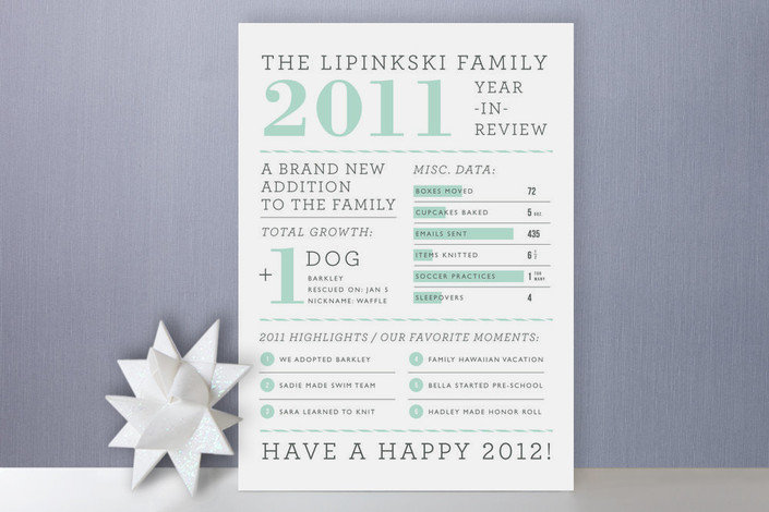 Year in Review Holiday Cards ($2 each)