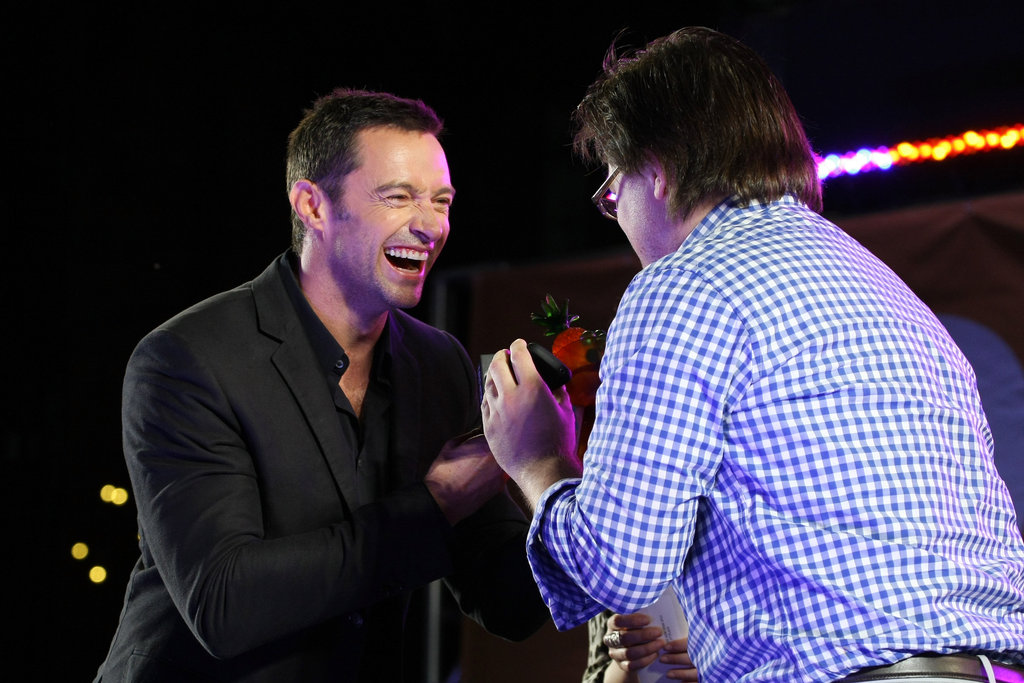 Hugh Jackman and Josh Leake