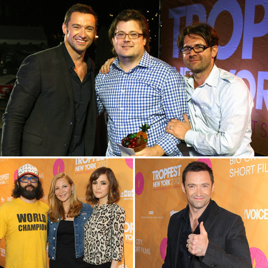 Hugh Jackman Is a Top Host at Tropfest New York With Rose Byrne