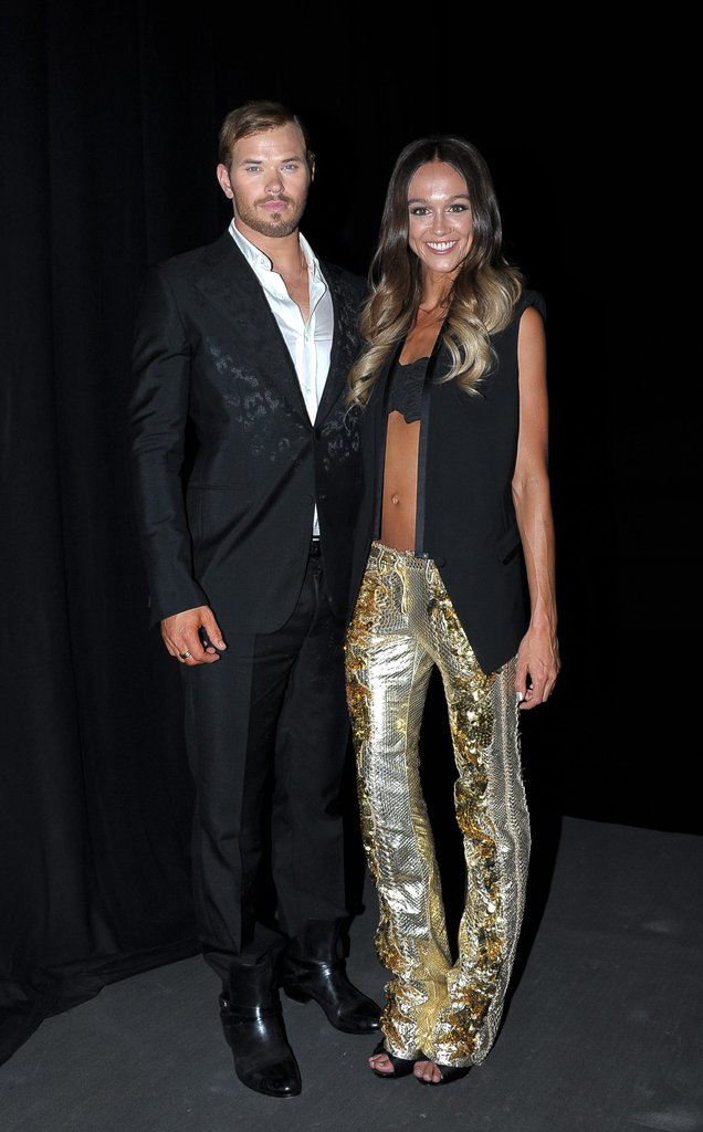 Kellun Lutz and Sharni Vinson at Roberto Cavalli