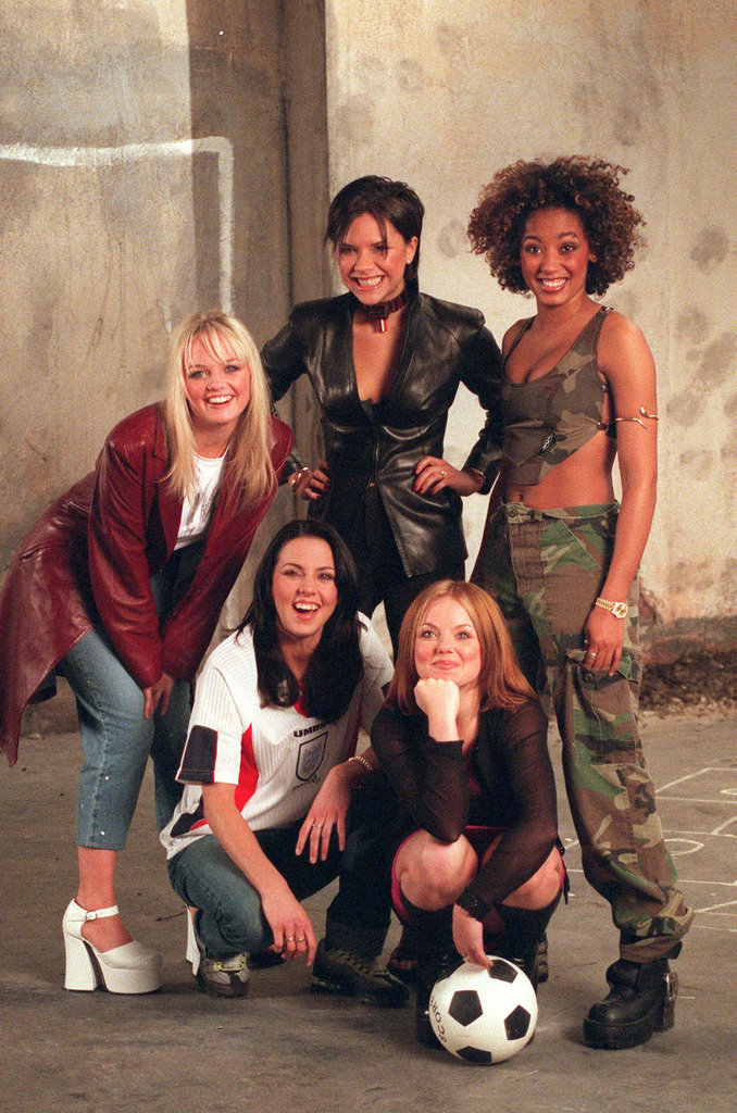 Early in their career the Spice Girls filmed their Euro 96 theme song video from London in January 1996.