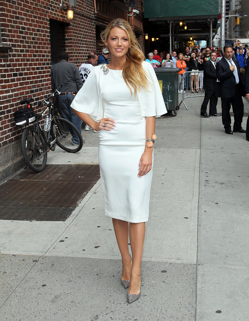 Blake Lively's Marchesa LWD was on the conservative side, but still showed off the actress's curves with its fitted shape.